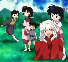 Inuyasha,Miroku, Sango e Kagome crianças