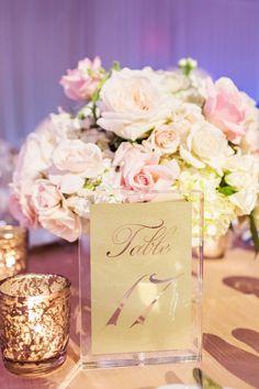 Perez Photography; Dreamy and Glamorous Texas Wedding from Perez Photography - wedding centerpiece idea
