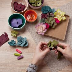 All you'll need lives in this DIY felt succulents kit from Uncommon Goods We've already tested out DIYing your own felt succulents for a felt flower bouquet or centerpiece and it checked out as easy-