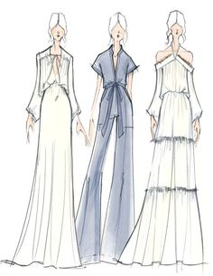 """Erin Fetherston - """"For spring 2017, Erin Fetherston takes us on a trip to the bright side of the moon with a celestial-inspired collection of flowing gowns, feminine tailoring, and billowy blouses perfect for Earth angels."""""""