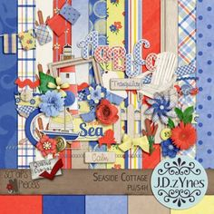 Seaside Cottage by J.D.zYnes  Love the colors and the fun elements!