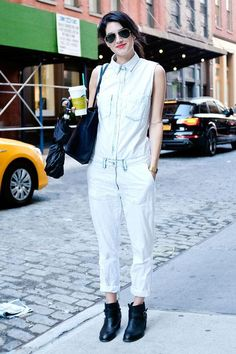 18 ways to wear a jumpsuit - see them all by clicking