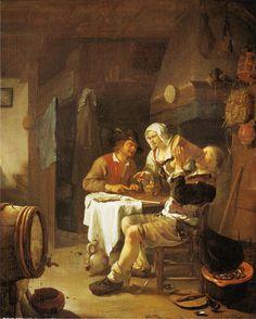 Frans van Mieris - Een boerenherberg