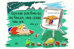 """""""#Geh #hin zur #Ameise, du #Fauler, #sieh ihre #Wege #an und werde #weise!"""" #Sprüche 6:6 #glaubensimpulse Peanuts Comics, Christian Cartoons, Ant, Faith, Studying"""