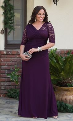 Need a formal dress this holiday season? Look no further than our plus size Soiree Evening Gown. www.kiyonna.com #PlusSizeFashion