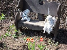 Angels in my flower garden
