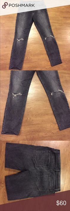 """J Brand grey cropped super skinny jeans Grey cropped distressed super skinny jeans by JBrand. 25"""" inseam. Color is Nemesis J Brand Jeans Ankle & Cropped"""
