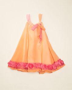 Mia Belle Orange & Pink  Dress (3T-8)