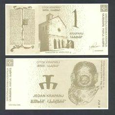 CROATIA 1 Krapanj 2006 UNC CENTRAL BANK OF ISLAND KRAPANJ RARE PRIVATE ISSUE/ http://www.ebay.com/itm/CROATIA-1-Krapanj-2006-UNC-CENTRAL-BANK-ISLAND-KRAPANJ-RARE-PRIVATE-ISSUE-/161194140860?pt=Paper_Money&hash=item2587eb64bc