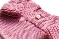 Knitted Baby Cardigan – PINK LADY – Crochet , Knitted Baby Cardigan – PINK LADY – Now we are going to join both pieces. If everything is correct, we must knit with Knitting. Baby Cardigan Knitting Pattern Free, Baby Sweater Patterns, Knitted Baby Cardigan, Knitted Booties, Baby Hats Knitting, Cardigan Pattern, Baby Knitting Patterns, Baby Patterns, Pink Lady