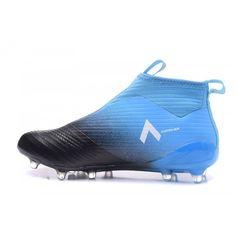 separation shoes 67b2b 76045 Baratas 2017 Adidas ACE 17 PureControl FG Negro Azul Botas De Futbol