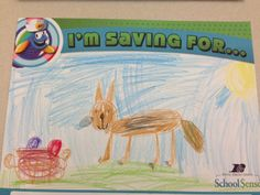 An elementary student saving money for... !