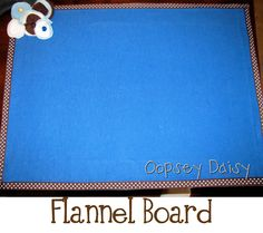 Make Your Own Flannel Board - three way board Whiteboard/magnetic/flannel