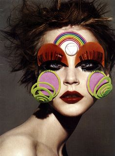 Face art by Jessica Stam by Luminous Phenomenon, via Flickr