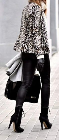 leopard. boots. leather