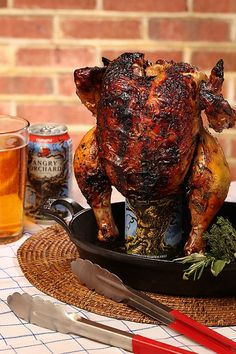 Angry Orchard Cider Can Chicken--with as delicious as this cider is and as tender as chicken tastes cooked with a beer, this has to be amazing! Grilling Recipes, Cooking Recipes, Beer Recipes, Fall Recipes, Recipies, Canned Chicken, Chicken Meals, Smoked Beer Can Chicken, Beer Butt Chicken