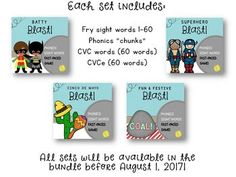 Phonics and Sight Word Blast Game BUNDLE by Positively Learning | Teachers Pay Teachers
