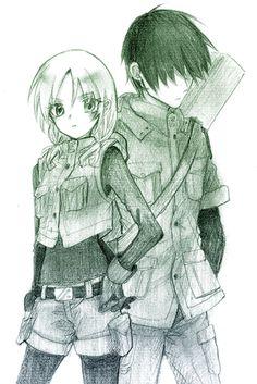Assassination classroom - Chiba and Hayami