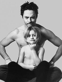 Cutest father & son (: Robert is one sexy man :)