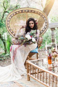 Bohemian bridal shoo