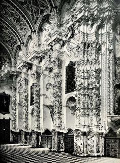 Inside the sacristy of the Carthusian Convent, Granada