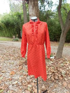 3b4aa0b95 Item  Vintage Red Floral Dress Floral