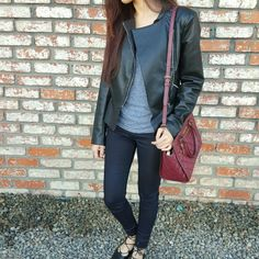 Zara Black Faux Leather Jacket Gorgeous Zara soft faux Jacket with non center zipper. Also has 2 side zipped pockets and zippers on lower sleeves. Fit and flare look!  FREE INFINITY SCARF WITH PURCHASE!! Zara Jackets & Coats
