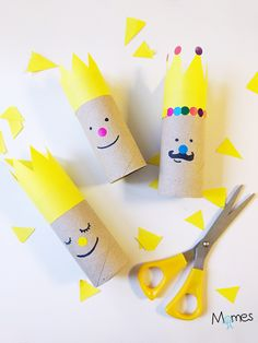 Imaginative Halloween Costumes - The Best Way To Be Artistic With A Budget Les Rois De L'piphanie - Apprendre Utiliser Les Ciseaux En Maternelle Toilet Roll Craft, Toilet Paper Roll Crafts, Kids Crafts, Arts And Crafts, Lessons For Kids, Epiphany, Creative Kids, Christmas Art, Diy For Kids