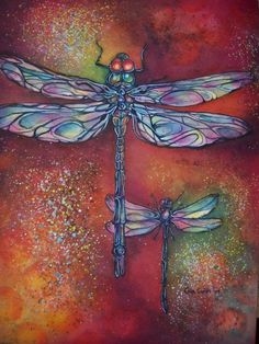 lava dragon flies...www.giaconti.com Dragonfly Art, Dragonfly Tattoo, Dragonfly Images, Insect Art, Silk Painting, Painted Rocks, Watercolor Paintings, Canvas Art, Drawings