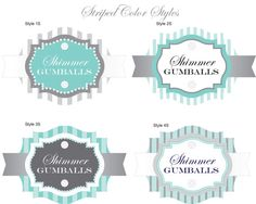 Tiffany´s Party Free Printable Candy Bar Labels. | candy bar ...