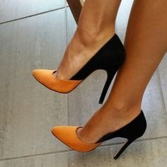 Chaussure orange noir beautiful