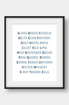 NATO Phonetic Alphabet, Aviation Decor, Pilot Gift, Boys Room Decor, Gift For Him, Morse Code, Military Decor  26 code words assigned to the 26 letters of the English alphabet. Ideal for pilots, future pilots or aviation enthusiasts. Aviation Art for your home or your office. #phoneticalphabet #alphabet #pilotgift #aviationdecor #kidsroomdecor #giftforhim #boysroomdecor  #militarydecor Airplane Wall Art, Airplane Decor, Nato Phonetic Alphabet, Aviation Decor, Bunny Nursery, Pilot Gifts, Camera Art, Affordable Wall Art, English Alphabet