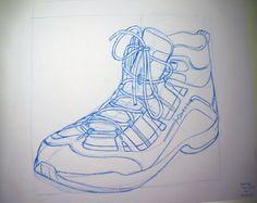 Croquis d'une chaussure