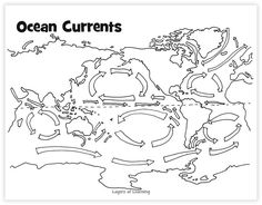 Ocean Currents, Ocean Floor, Ocean in a Bottle Craft, and Ocean Lapbook – Layers of Learning - Top-Trends 7th Grade Science, Middle School Science, Science Fair, Science Lessons, Science For Kids, Teaching Geography, Teaching Science, Science Education, Science Activities