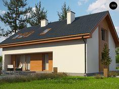 Общая площадь 179,0 м² Проект дома Z232A это проект дома с мансардой, который отличается простотой и элегантностью.