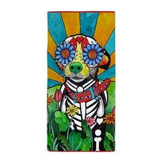 #Chihuahua Beach Towel by RobiniArt!