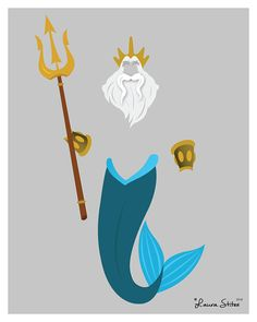 Disneys König Triton Poster/Print von LauraStitesArt auf Etsy