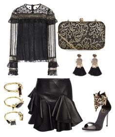 """""""Untitled #823"""" by cathatin on Polyvore featuring Dodo Bar Or, René Caovilla, Accessorize, Alexander McQueen and Noir Jewelry"""