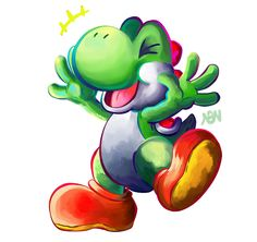 A Yoshi by NothingbutNonsense on DeviantArt Super Mario Brothers, Super Mario Bros, Some Games, Fun Games, Cameo Project, Shy Guy, Paper Mario, All Paper, Mario Kart