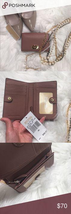 💖MK Jet set Md slim wallet NWT. Medium sim wallet, dusty rose color Michael Kors Bags Wallets