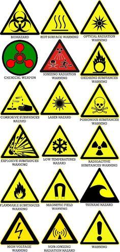 [IMG:Hazard Symbols]
