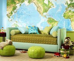 Карта как элемент декора