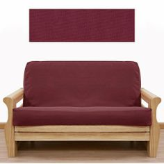 Solid Burgundy Futon Cover Ottoman 402 by SlipcoverShop. $27.00. See Sizing and Product Description below. In Stock - Ships within 2 days. Made to fit Ottoman size futon cushion measuring 21 inches wide, 28 inches long and up to 8 inches thick. Futon cover features 3 sided, concealed zipper construction. Made in USA. Solid Burgundy fabric is crafted from upholstery grade duck and will last the test of time. With this slipcover, seasonal decorating throughout your home is fun ...