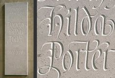 ieuanreeslettering.co.uk .Commemorative stone carving