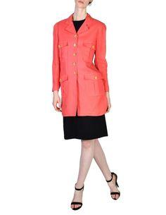 0e6da6cbdebc7 Chanel Vintage Salmon Pink Linen Longline Blazer Jacket - from Amarcord  Vintage Fashion Chanel Jacket,