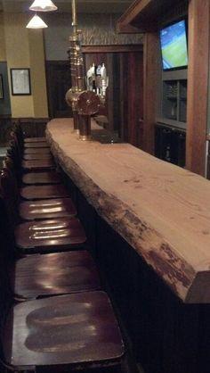 Wow. Bar counter at Brauhaus Schmid Philly