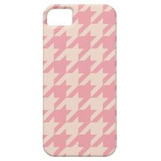 Modern Pink and Peach Houndstooth iPhone 5/5s Case