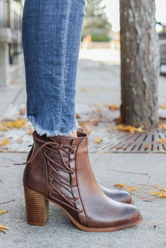 Darcy-1 Oiled Faux Leather Ankle Booties - UOIOnline.com
