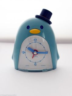 RARE Vintage 1979 Sanrio TUXEDO SAM Mini Quartz Alarm Clock *Works!* Free Ship!