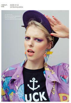 #Brokenfab earrings and cap in Hope Magazine